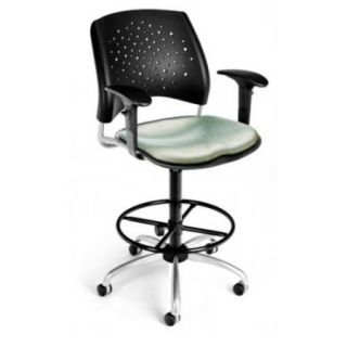 OFM 326 AA3DK SPRT Elements Stars Swivel Chair With Arms, Sprout