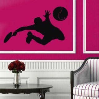 Tennis Player Sticker Vinyl Wall Art   17216553