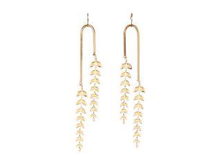 Emily Elizabeth Jewelry Feather Leaf Earrings, Jewelry, Women