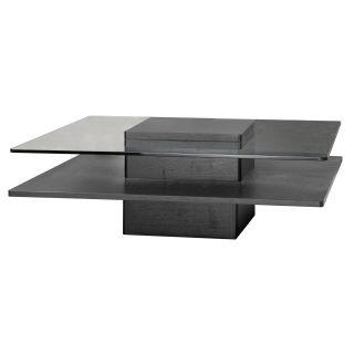 Revere Square Coffee Table   Black Oak   Coffee Tables