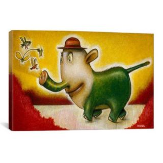 iCanvas 'Elephancy' by Daniel Peacock Painting Print on Wrapped Canvas
