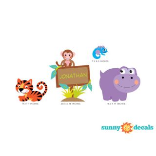 Jungle with Custom Name Wall Decal by Sunny Decals