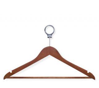 Honey Can Do 24 pack Basic Cherry Finish Wood Suit Hanger —