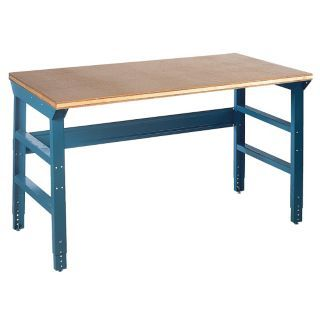 "EDSAL Workbench, Steel Frame Material, 72"" Width, 36"" Depth  Shop Top Work Surface Material   1PB53