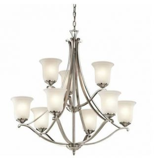 Kichler Lighting 43402CLP Wellington Square 9 Light Chandelier in Classic Pewter