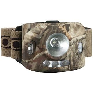 Cyclops Ranger CREE XPE 126 Lumens 4 Stage LED Headlamp With 3 Green LED, Camo, 6.8 x 5 x 2.6
