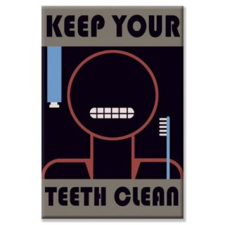 Buyenlarge Keep Your Teeth Clean Vintage Advertisement on Wrapped Canvas