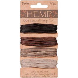 Hemp Cord 20# 120 Feet/Pkg Earthy