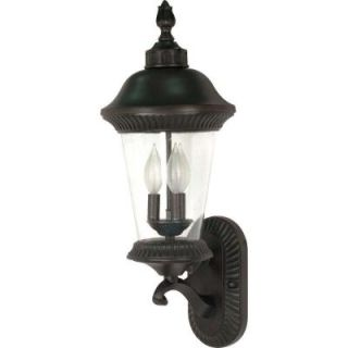 Glomar Clarion 3 Light 24 in. Wall Lantern   Arm Up with Clear Seed Glass finished in Chestnut Bronze DISCONTINUED HD 964
