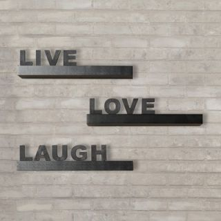 Varick Gallery Kelly 3 Piece Live, Love, Laugh Floating Shelf Set