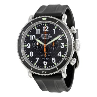 Shinola The Runwell Sport Chrono Real Carbon Fiber Dial Black Rubber