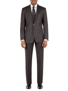 Alexandre of England Flannel Stripe Tailored Fit Suit Trouser Grey