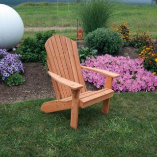 A & L Furniture Western Red Cedar Fanback Adirondack Chair   Adirondack Chairs