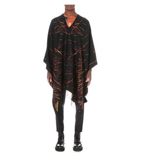 MARCELO BURLON   Catedral Patterned poncho