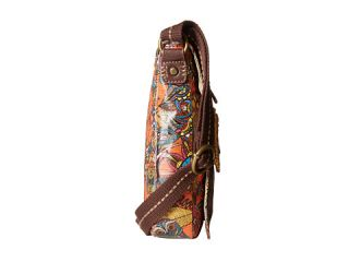 Sakroots Artist Circle Small Flap Messenger Royal Flower Power