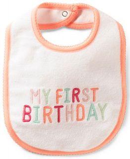 Carters Baby Girls My First Birthday Bib   Kids