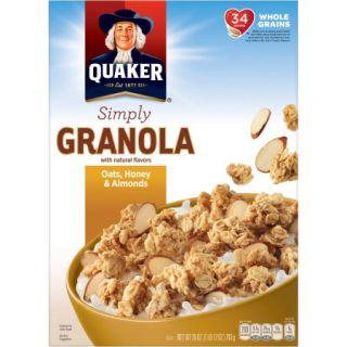 Quaker® Simply Granola Oats, Honey & Almonds 28 oz. Box