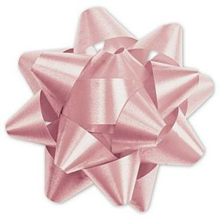 3 3/4 Splendorette Star Bows, Light Pink