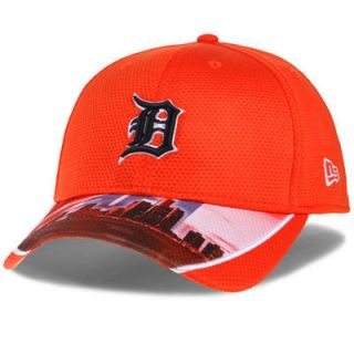 Detroit Tigers New Era Vista Vize 39THIRTY Performance Flex Hat   Orange