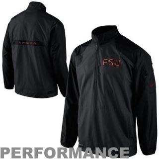 Nike Florida State Seminoles (FSU) Lockdown Half Zip Performance Jacket   Black