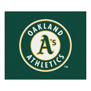 Fanmats Machine Made Oakland Athletics Green Nylon Tailgater Mat (5 x