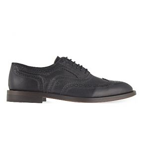 H BY HUDSON   Heyford leather wingcap brogues