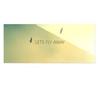 Lets Fly Away by Richard Casillas Textual Art Plaque