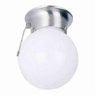 Volume International 6 in W Brushed Nickel Ceiling Flush Mount Light