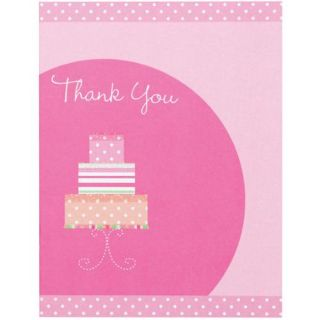 Thank You Card Kit 12/Pkg Bridal Shower
