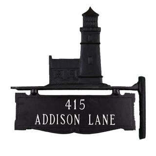 Montague Metal Products Inc. Two Line Post Address Sign with Cottage