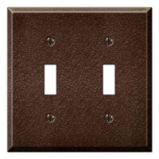 Creative Accents Steel 2 Toggle Wall Plate   Antique Copper DISCONTINUED 9TAC102