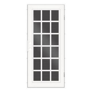 TITAN Classic French Powder Coat White Aluminum Recessed Mount Single Security Door (Common: 36 in x 80 in; Actual: 37.5 in x 81.563 in)