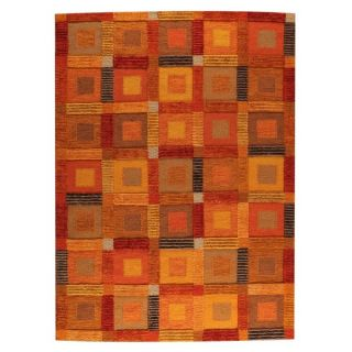Hand Woven Indo Big Box Orange Rug (56 x 710)   18524513