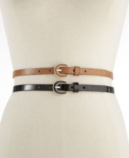 Style&co. 2 For 1 Croc and Pewter Skinny Belts Belt