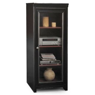 Bush Stanford Audio Cabinet, Antique Black and Cherry