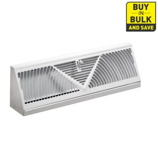 Accord 150 Series White Steel Baseboard Diffuser (Rough Opening: 4.5 in x 15 in; Actual: 18.06 in x 4.5 in)