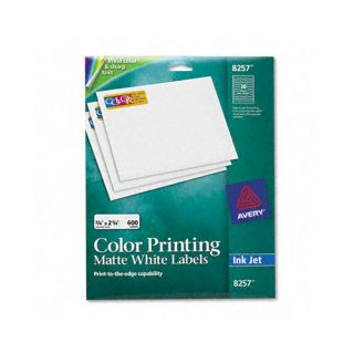 Avery Consumer Products Inkjet Labels for Color Printing (600/Pack)