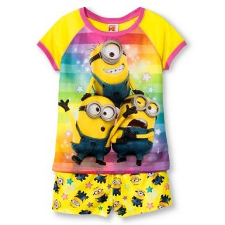 Girls Despicable Me Short Pajamas