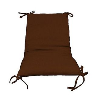 Fiberbuilt Outdoor Lounge Chair Cushion (Set of 2); Brown