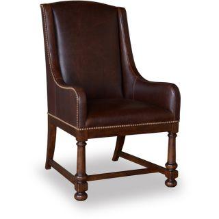 Aurelle Home Niclos Brown Leather Club Chair