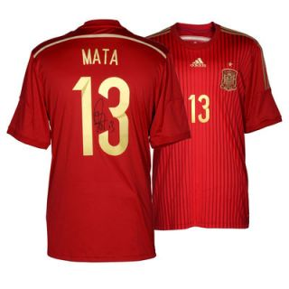 Juan Mata Spain  Authentic Autographed Red Back Jersey
