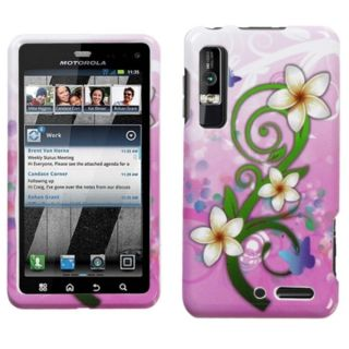 INSTEN Tropical Flowers Phone Case Cover for Motorola XT862 Droid 3