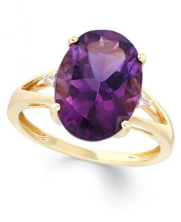 Amethyst (5 ct. t.w.) and Diamond Accent Ring in 14k Gold   Rings