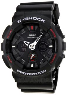 Casio G Shock Analog Digital Black Dial Mens Watch CSGA120 1A