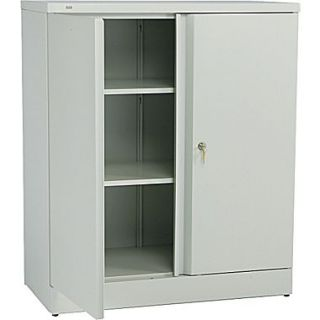 basyx  by HON Easy to Assemble 42 High, 3  Shelf Storage Cabinet, Light Gray