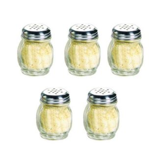 HDS Trading CS10871 Cheese and Spice Shaker 5 Piece Glass Finish