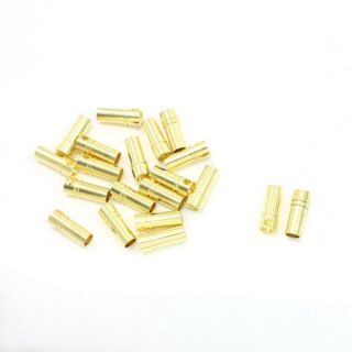 20 Pcs Female Bullet Connector Plug Replacement 3.5mm for RC DIY