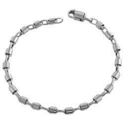 Fremada 14k White Gold 7.5 inch Bullet Chain Bracelet   13261619