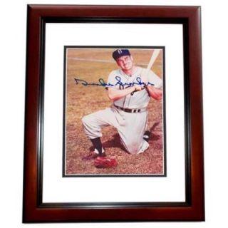 Real Deal Memorabilia DSnider4x6 4MF Duke Snider Autographed Brooklyn Dodgers 4x6 Photo MAHOGANY CUSTOM FRAME   Deceased