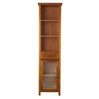 Elegant Home Fashions Aida 65 in. H x 17 in. W x 13 1/2 in. D Linen Cabinet in Oil Oak HDT544